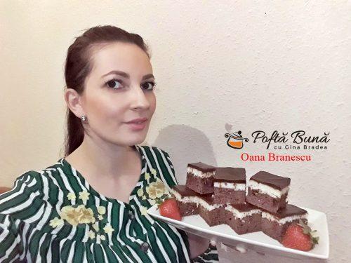 prajitura cu ciocolata si crema de cocos 6 500x375 - Prajitura Bounty cu crema de cocos, blat de cacao si glazura de ciocolata
