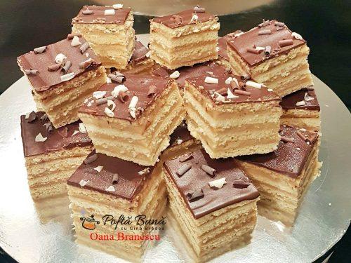prajitura cu foi si crema de caramel reteta pas cu pas 500x375 - Prajitură cu foi fragede, crema de caramel si ciocolata