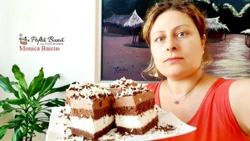 prajitura paradis de ciocolata reteta pas cu pas 1 500x281 - Prajitura Paradis de ciocolata cu blat de cacao, ciocolata alba si neagra