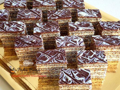 prajitura viorica cu mac si crema de branza cu vanilie reteta simpla9 500x375 - Prajitura Viorica cu mac si crema de branza cu vanilie