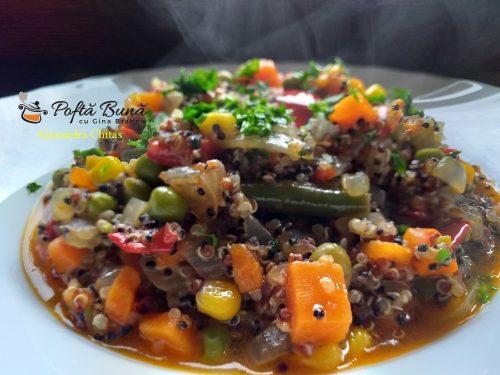 quinoa cu legume si sos de rosii reteta rapida7 500x375 - Quinoa cu legume si sos de rosii, reteta rapida, de post