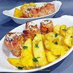 Rulada din piept de pui cu bacon, mustar si ierburi aromate