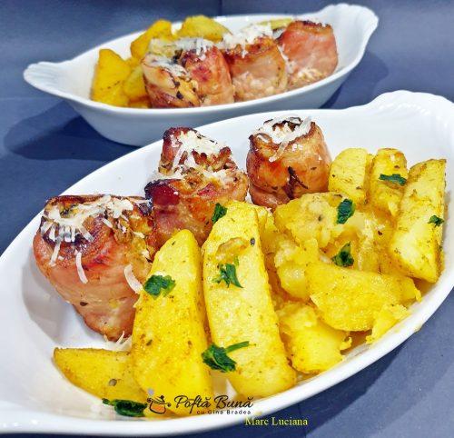 rulada din piept de pui cu bacon mustar si ierburi aromate 1 500x482 - Rulada din piept de pui cu bacon, mustar si ierburi aromate