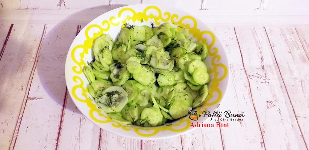 Salata de castraveti cu usturoi si marar, reteta ardeleneasca