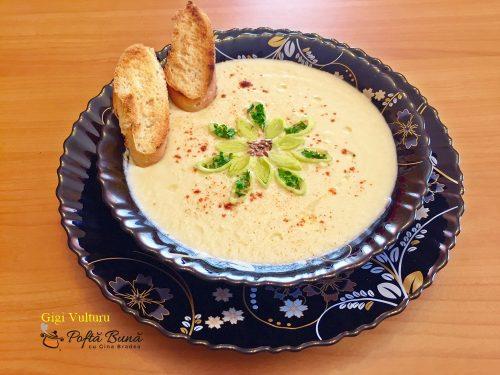 Supa crema de telina cu praz, reteta de post sau de dulce