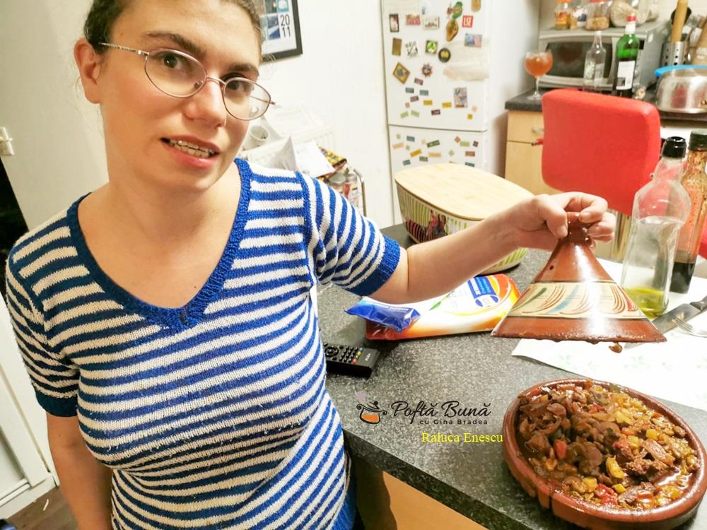Tajina marocana cu carne de miel si legume