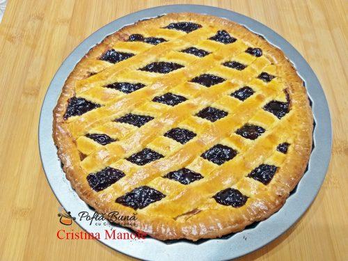 tarta cu gem de prune si nuci reteta simpla 500x375 - Tarta cu gem de prune si nuci sau crostata