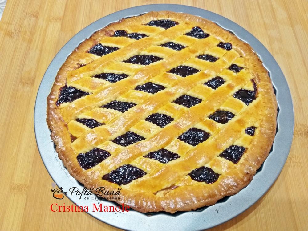 tarta cu gem de prune si nuci reteta simpla - Tarta cu gem de prune si nuci sau crostata