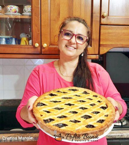 tarta cu gem de prune si nuci reteta simpla4 446x500 - Tarta cu gem de prune si nuci sau crostata