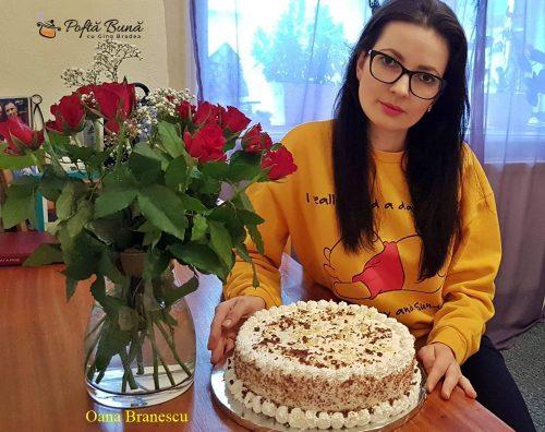 tort cu crema de zahar ars si branza 4 500x396 - Tort cu crema de zahar ars si branza, reteta simpla si rapida