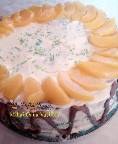 tort cu fructe reteta simpla rapida 410x500 - Tort cu fructe si crema de vanilie, reteta simpla, de familie
