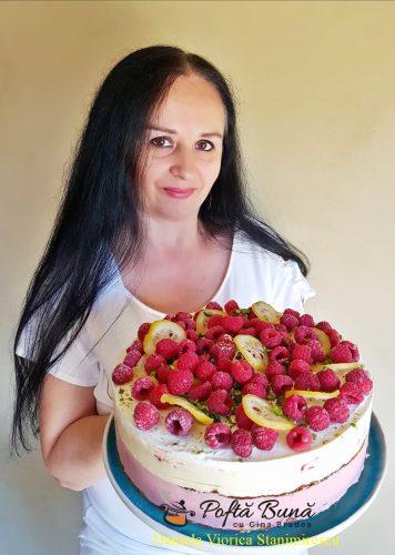 tort de inghetata cu zmeura si lamaie reteta simpla3 356x500 - Tort de inghetata cu zmeura si lamaie