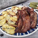 Piept de porc la cuptor, cu usturoi si cimbru