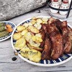 Piept de porc la cuptor, cu usturoi