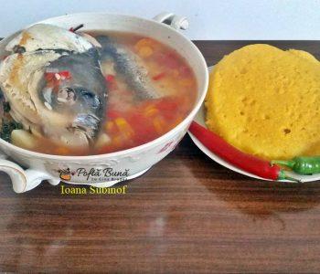 Bors de peste cu orez si leustean, reteta traditionala pas cu pas