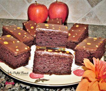 Brownie cu mere si faina fara gluten, reteta pas cu pas