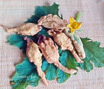 Flori de dovleac pane umplute cu branza de vaci