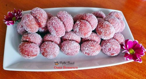 fursecuri piersicute umplute cu dulceata si nuca 1 500x270 - Piersici umplute cu dulceata si nuca, reteta veche de fursecuri fragede