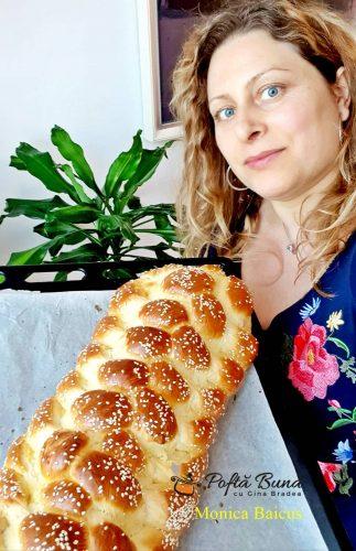 paine cu lapte si unt ideala pentru micul dejun 4 323x500 - Paine impletita, cu lapte si unt, ideala pentru micul dejun