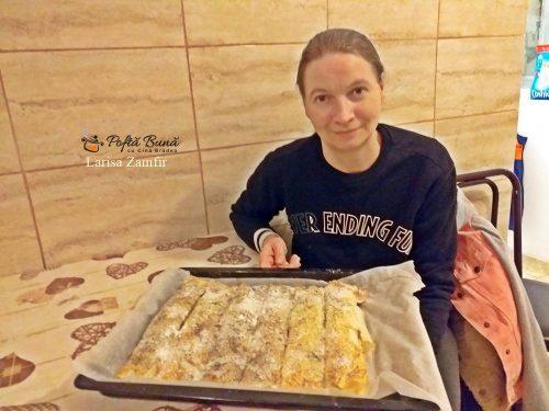 placinta cu nuca si mar cu foi de placinta cumparate 3 500x375 - Placinta cu mere si nuci, cu foi de placinta cumparate