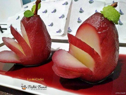 poire a beaujolais sau pere in vin rosu 5 500x375 - Poire a Beaujolais sau Pere in vin rosu, reteta rapida