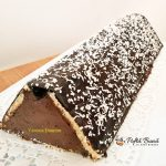 prajitura acoperis de casa reteta pas cu pas 4 150x150 - Prajitura acoperis de casa cu piscoturi si crema de ciocolata