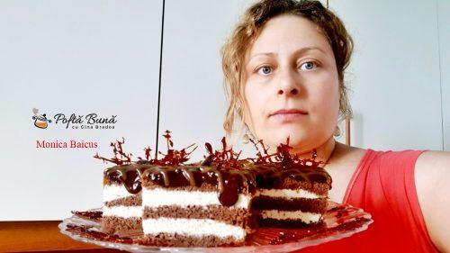 prajitura caramel reteta pas cu pas 6 500x281 - Prajitura Caramel cu foi de cacao, ciocolata si crema caramel