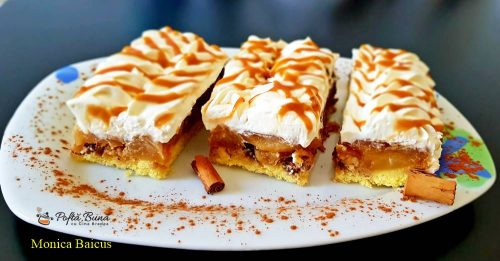 prajitura cu mere nuca si crema de frisca cu mascarpone 5 500x261 - Prajitura cu mere, nuca si crema de frisca cu mascarpone