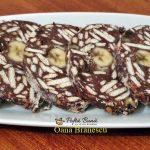 salam de biscuiti cu banane reteta simpla 2 150x150 - Salam de biscuiti cu banane, stafide, cacao si rom, reteta copilariei