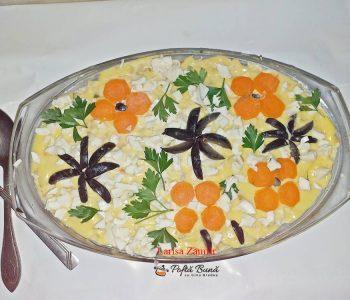 Salata boeuf cu piept de pui, varianta romaneasca si gustoasa
