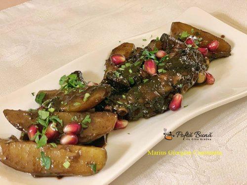 Salata de caracatita cu cartofi si sos de rodie, reteta italiana