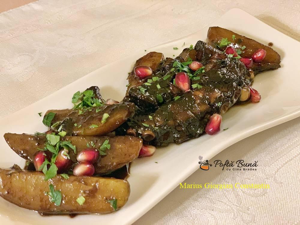 salata de caracatita cu cartofi si sos de rodie 5 - Salata de caracatita cu cartofi si sos de rodie, reteta italiana