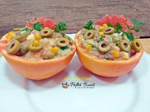 salata de peste cu grapefruit reteta simpla 1 500x375 - Salata de peste cu grapefruit, porumb si patrunjel, reteta rapida