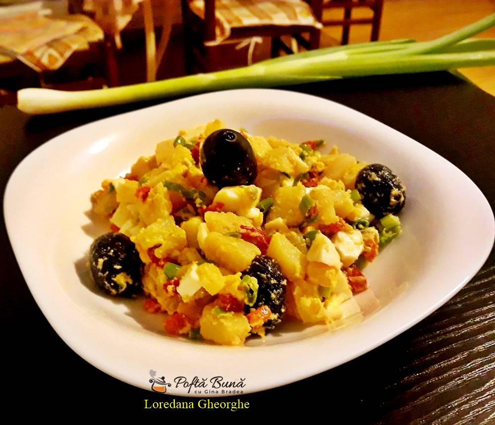 salata orientala reteta rapida 1 - Salata orientala cu masline, oua fierte si gogosari, reteta clasica
