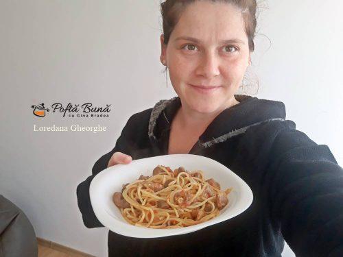 spaghete cu pipote si inimi in sos reteta simpla 5 500x375 - Spaghete cu pipote si inimi in sos de rosii, reteta rapida
