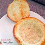 Supa crema de pui si ciuperci in paine de casa