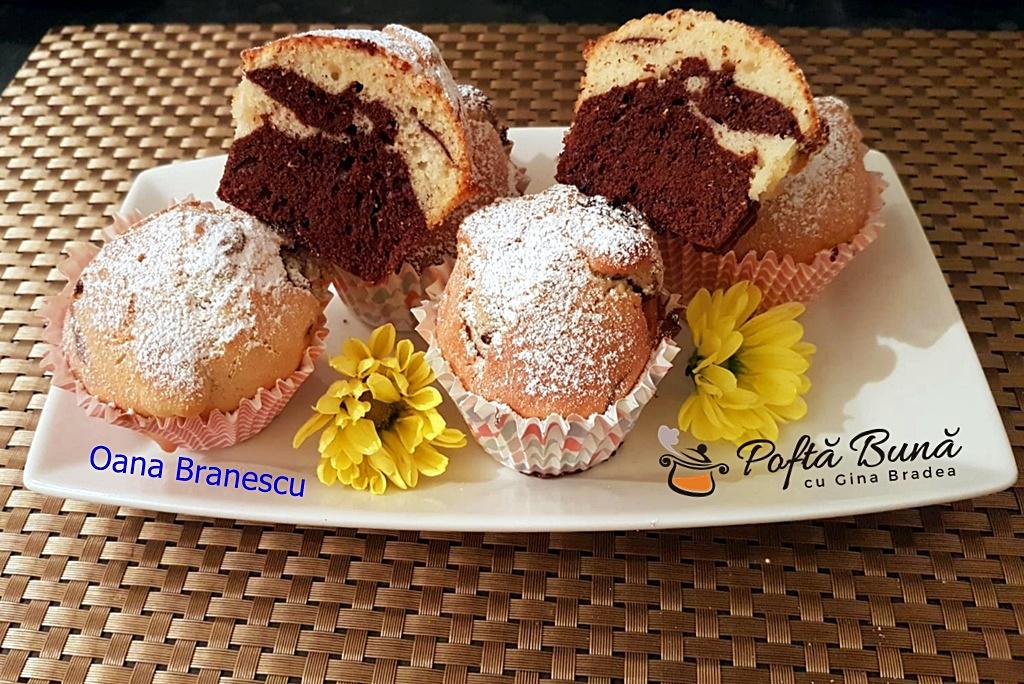 Briose cu ciocolata si vanilie pofta buna retete cu gina bradea 2 - Briose cu ciocolata si vanilie