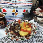 Ceafa de porc la cuptor cu legume