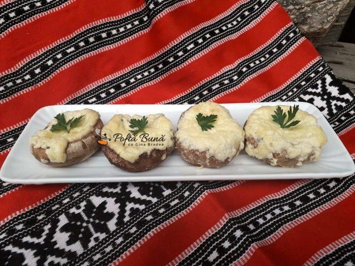 Ciuperci umplute cu branza de burduf la cuptor reteta gina bradea 1 700x525 - Ciuperci umplute cu branza de burduf