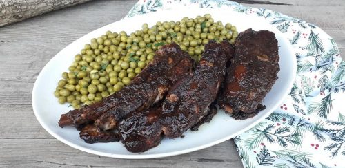 Piept de porc cu sos de prune la cuptor reteta gina bradea 2 500x243 - Piept de porc cu sos de prune, la cuptor