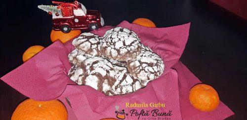 Biscuiti crapati cu ciocolata, chocolate crinkles