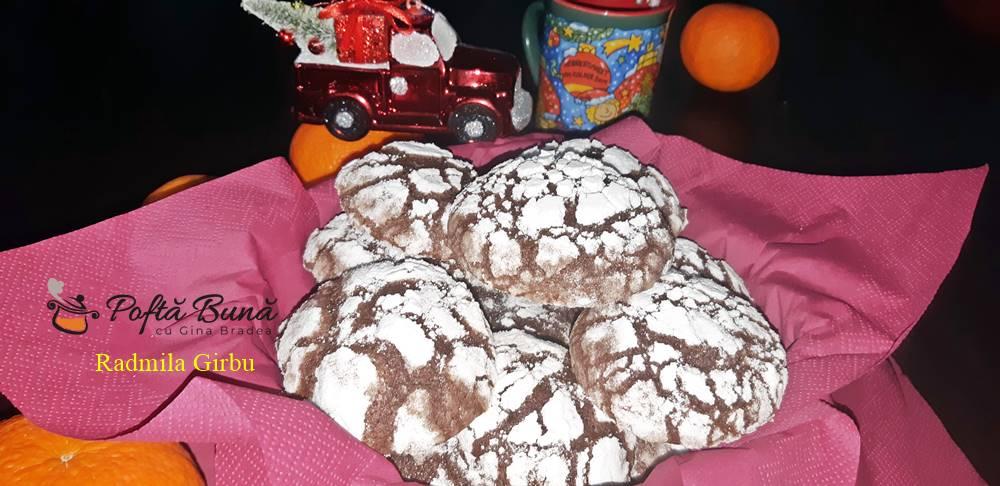 chocolate crinkels biscuiti crapati cu ciocolata 6 - Biscuiti crapati cu ciocolata, chocolate crinkles