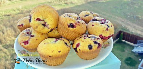 muffins cu fructe de padure reteta rapida 4 500x243 - Briose cu fructe de padure