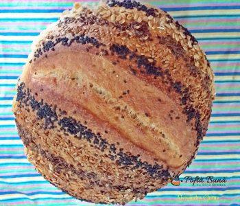 paine cu maia si seminte reteta simpla 1 350x300 - Paine cu maia naturala si seminte