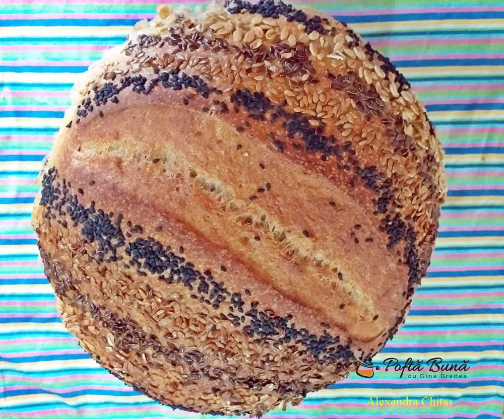 paine cu maia si seminte reteta simpla 1 - Paine cu maia naturala si seminte
