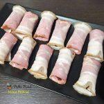 Pigs in a blanket, carnaciori in aluat si bacon