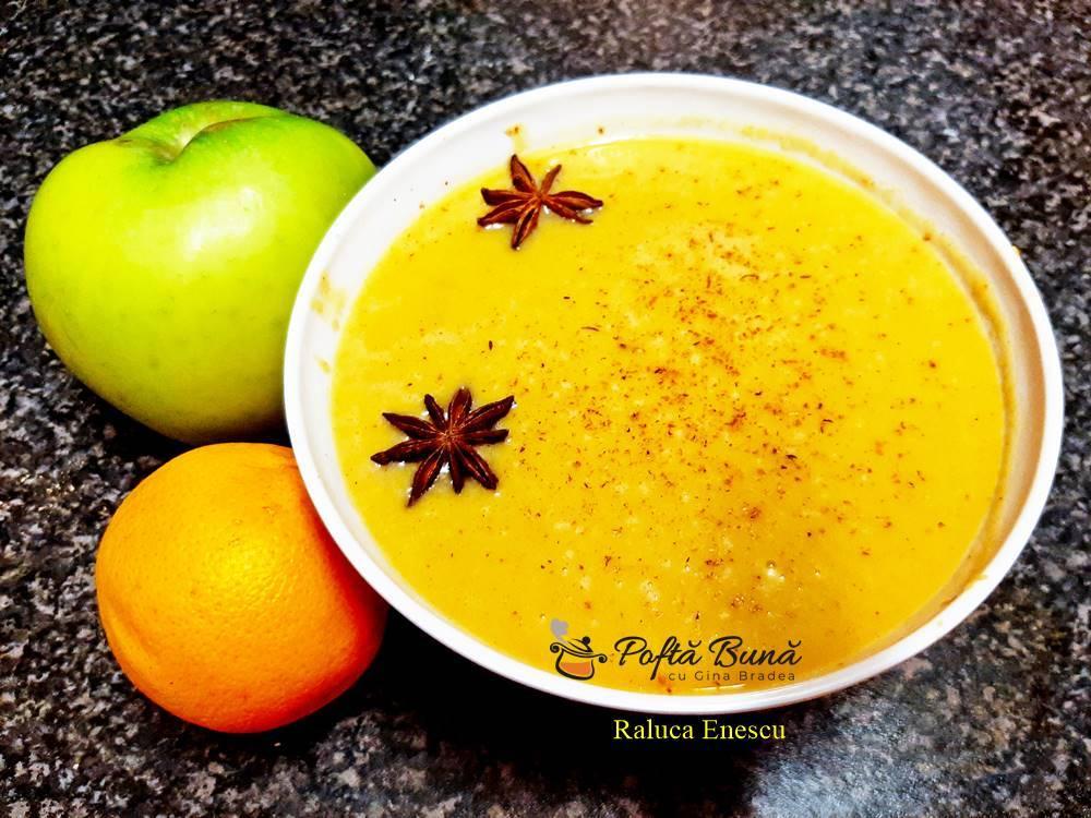 Supa aromata de dovleac, cu pasta miso