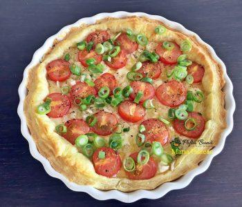 tarta cu branza de capra si rosii cherry 5 350x300 - Index retete culinare (categorii)