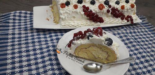 Diplomat rulada cu frisca naturala fructe vanilie gina bradea 4 500x243 - Diplomat reteta clasica de rulada cu frisca si fructe