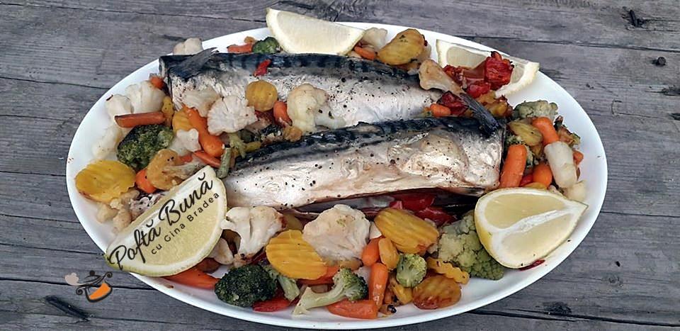 Macrou la cuptor cu legume, reteta pentru dieta Rina